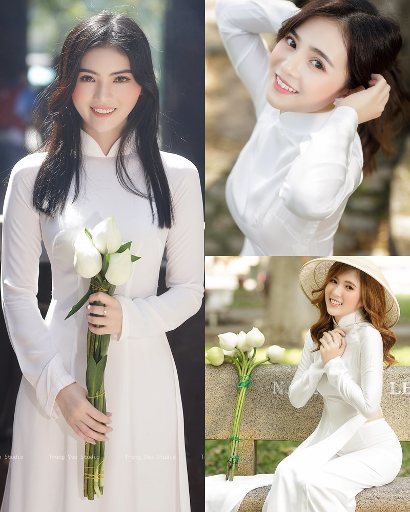 The Beauty of Vietnamese Girls with Traditional Dress (Ao Dai) #4 - TruePic.net