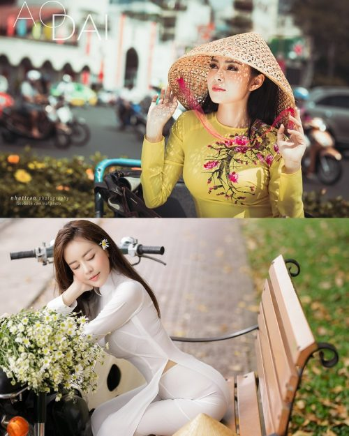 The Beauty of Vietnamese Girls with Traditional Dress (Ao Dai) #5 - TruePic.net