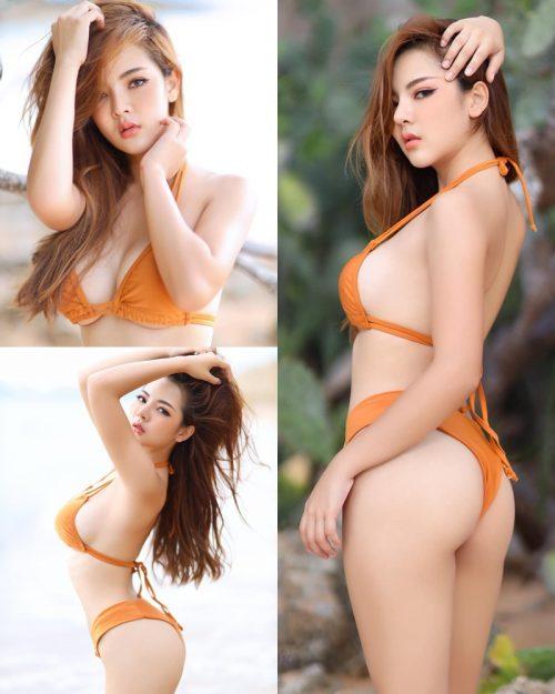 Thailand Model - Montakan Kaengraeng - Sexy Orange Bikini - TruePic.net