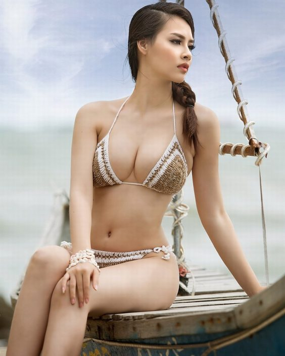 Vietnamese Hot Model - Thuy Trang - Wool Bikini Collection - TruePic.net