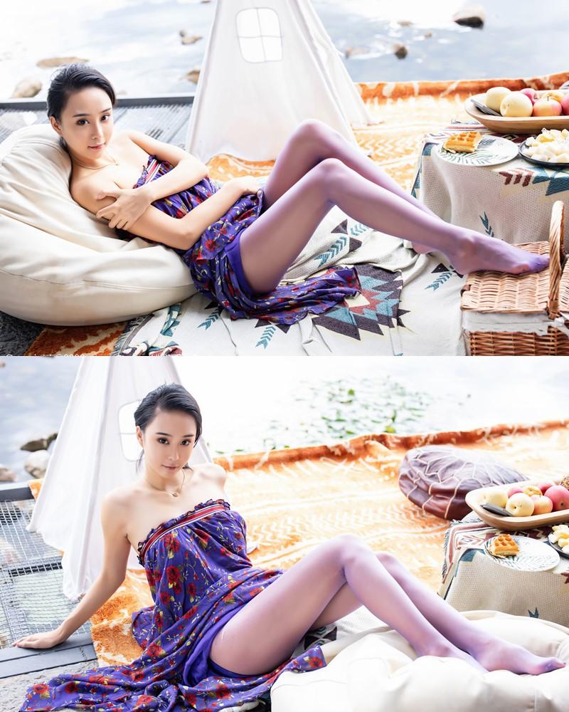 XIUREN No.2544 - Chinese Model - 蓝夏Akasha - Purple Queen - TruePic.net