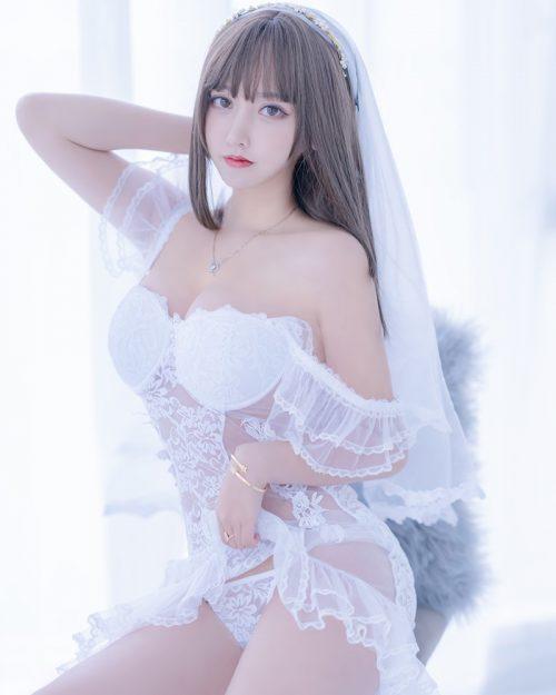 Chinese Cosplay Model - 过期米线线喵 (米線線sama) - Beautiful Sexy Bride - TruePic.net