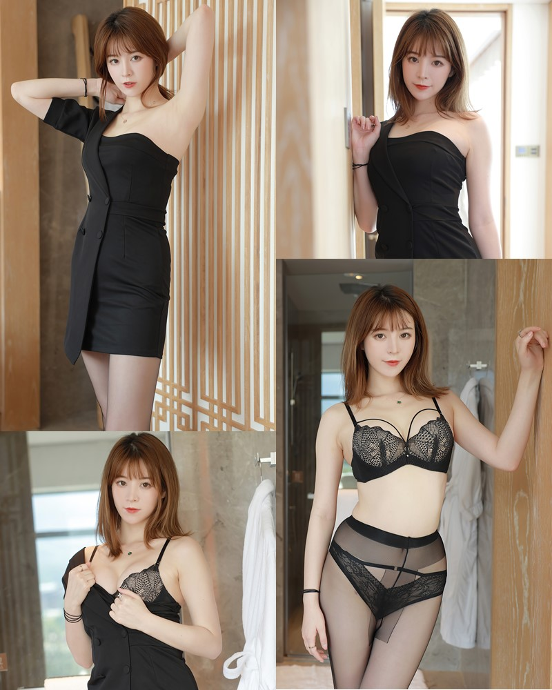 MFStar Vol.405 - Chinese Model - Yoo优优 - Hot Woman in Black - TruePic.net