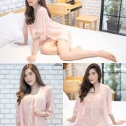Thailand Model - Luc Kie - Nice Pink Love Night Dress - TruePic.net