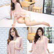 Thailand Model - Luc Kie - Nice Pink Love Night Dress - TruePic.net