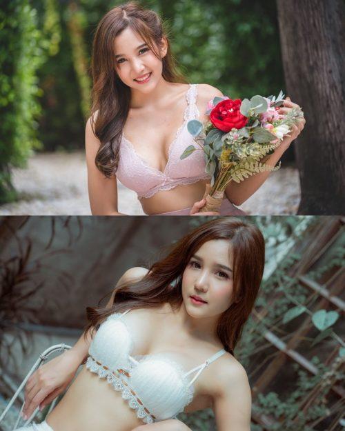 Thailand Model – Sukanya Rongpol – Sexy White Bra - TruePic.net