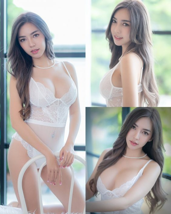 Thailand Sexy Model – Champ Phawida - Transparent White Lingerie - TruePic.net