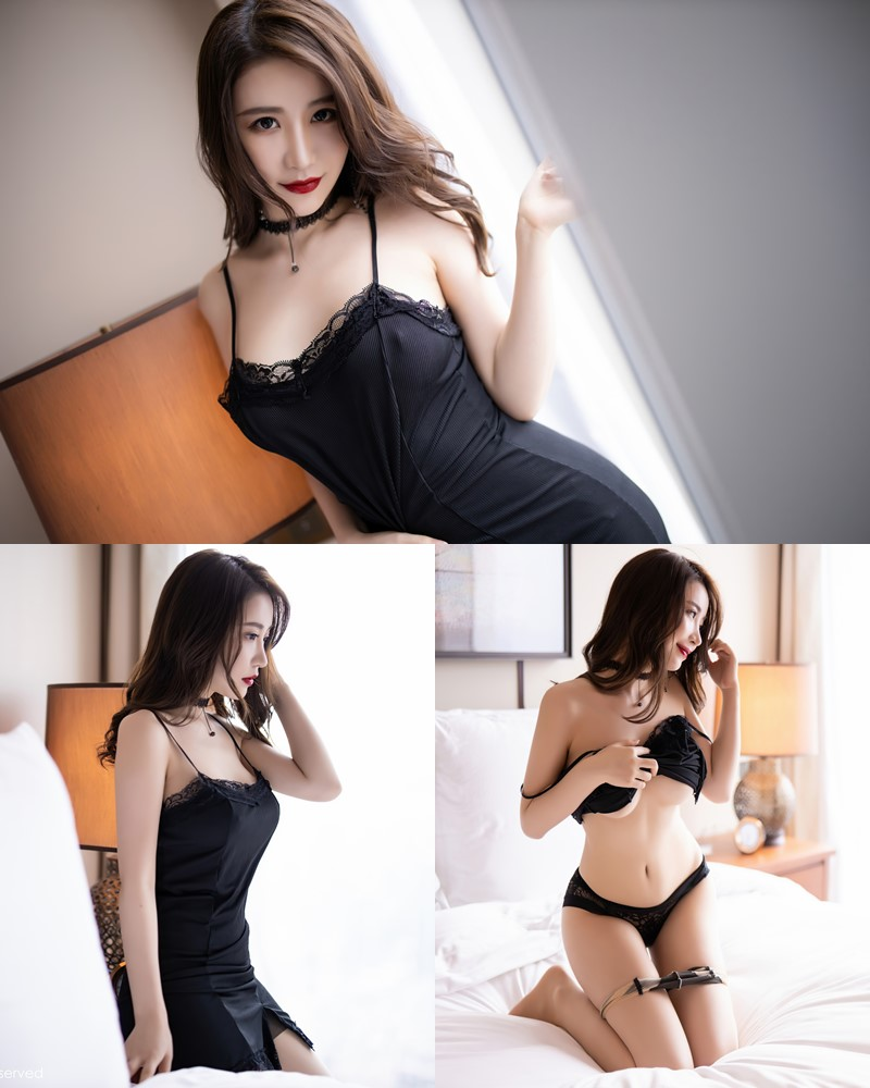 XIUREN No.2620 - Chinese Model - 绯月樱-Cherry - Sexy and Mysterious Black - TruePic.net