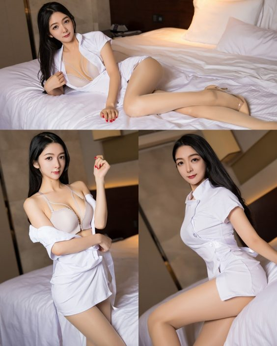XiaoYu No.004 - Chinese Model - Xiao Reba (Angela喜欢猫) - White Sexy Nurse - TruePic.net
