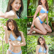 Thailand Model - Poompui Tarawongsatit - Summer Blue Bikini Set - TruePic.net