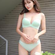 Korean Model - Cha Yoo Jin - Basic Padded Linger - TruePic.net (15 pictures)