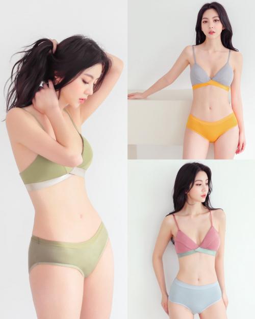 Korean Model - Lee Chae Eun - Comfortable Cotton Lingerie - TruePic.net (47 pictures)